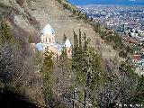 Orthodox church on a hill in Tbilisi