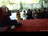 Receiving blessings from a mullah at a traditionaI Islamic wedding ceremony in Tashkent