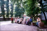 Eldery Russians in a park in Saint Petersburg