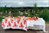 Cemetery on a day of remembrance  (Parents Day) in the Komi Republic