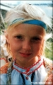 Girl in a traditional Northern costume in the Komi Republic