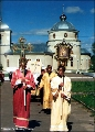 Religious procession in the monastery of St. Kazan