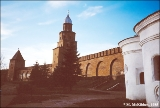 Church of the Protective Veil and the Kremlin wall in Novgorod