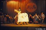 Children's folklore ensemble perfoming at a folk music festival at the State University of...