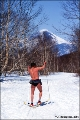 Cross-country skier near Petropavlovsk-Kamchatsky