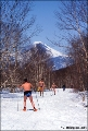 Spring skiing in bathing suits near petropavlovsk-Kamchatsky