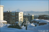 Cleaning snow after a big snowfall in Petropavlovsk-Kamchatsky