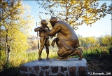 Statue to Lenin and a child in Petropavlovsk-Kamchatsky