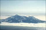 Mount Avachinsky viewed from a Russian commercial flight from Moscow