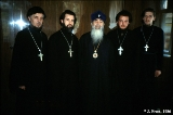 The head priest for Southwest Russia with the priests from local churches in Krasnodar