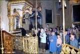 Orthodox service in the  Holy Cave Monastery of the Assumption in Pechory