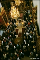 View from the choir loft of an orthodox service  at the Holy Cave Monastery of the Assumption, in...