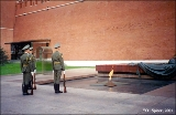 Changing of the guard at the site of the eternal flame commemorating fallen heroes of World War...