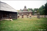 Russian Orthodox churches in the museum of Ukrainian folk culture in the village of Pirogovo near...