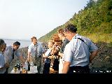 Picnic on an island in the Amur River hosted by Russian Federation Duma (Parliament)...