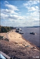 Beach on the Amur River in Khabarovsk
