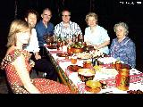 The family of Valery Chkalov, famous Russian pilot and Hero of the Soviet Union, at their dacha in...