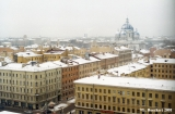Aerial view of Saint Petersburg from the Sovetskaia Hotel