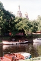 Boats on the Moyka Canal in front of the Mikhaylovsky Garden, with the Cathedral of Christ the...