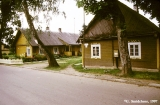 Wooden buildings in a Lithuanian town