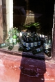 Bottles with beverages on a windowsilll in Irkutsk