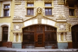 Turn of the century Jugendstil (art nouveau style) facade in Riga