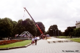 Construction of stage for the Baltica 2000 festival in Riga
