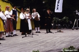 Estonian folk group of fiddlers performing at the Baltica Folk Festival in Riga