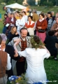 Lithuanians dancing at the Jonines midsummer festival in Vilnius