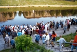 Celebrations along  the Neris River of the Jonines midsummer festival in Vilnius
