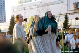 Lithuanians reciting poetry at the Jonines midsummer festival in Vilnius