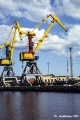 German-manufactured loading cranes in Ventspils harbor