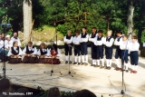 """Kannel,"" an Estonian folk group performing at the Viru Saru International Folk Festival..."