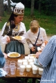 Estonian stew and buttermilk offered for lunch at the Viru Saru International Folk Festival in...