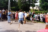 "Flail jumping competition at the Viru Saru International Folk Festival in ""Estat..."