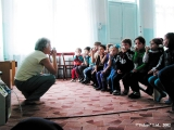 "Children in a therapy session in the ""Narat"" sanatorium in Teberda"