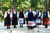 """Zhurba,"" a Ukrainian group from Tallinn, performing at the Viru Saru International Folk..."