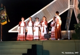 Byelorussian folk group performing at the Baltica Folk Festival in Riga