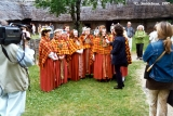 Baltica Folk Festival participants from Western Latvia at the ethnographic open-air museum in Riga
