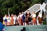 Estonian fiddlers performing at the Baltica Folk Festival in Riga