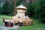 Newly rebuilt shrine at the ethnographic open-air museum in Riga
