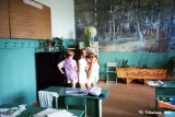Children in a classroom in the town of Dyatkovo