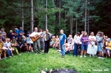 Teachers performing at a summer camp in Dyatkovo