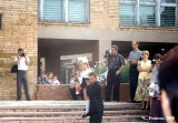 Parents filming the first day of school in Vladivostok