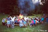 Bonfire in the children's summer camp in Dyatkovo