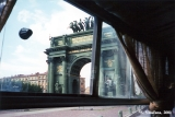 View of the Narva Triumphal Arch in Saint Petersburg