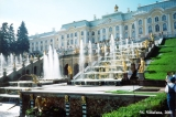 View of the Great Cascade Fountains and the Great Palace in Peterhof