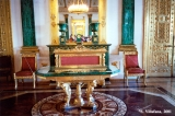 Malachite Room in the Winter Palace in Saint Petersburg