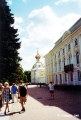 Church and a wing of the Great Palace in Peterhof