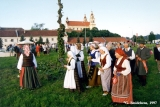Procession at the Jonines midsummer celebrations in Vilnius